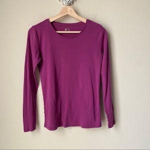 JCP purple / fuchsia long sleeve crewneck